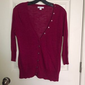 3/$20 New York & Company Button Up Cardigan